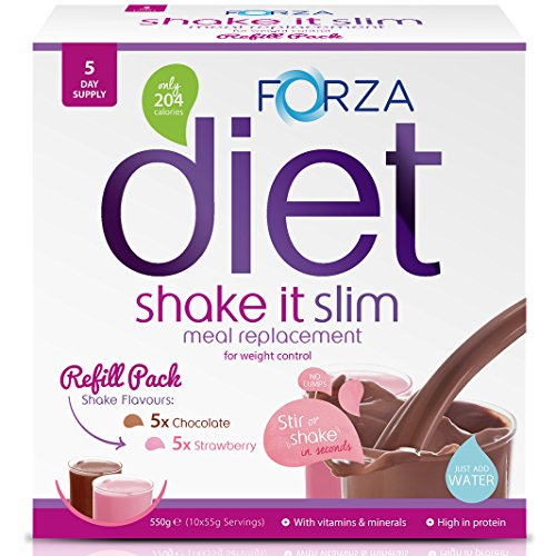 FORZA Shake It Slim Meal Replacement Shake Refill Pack - 10 Sachets