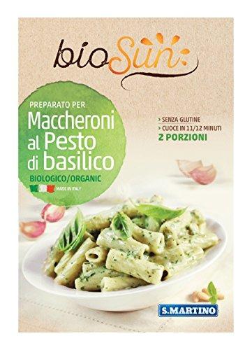 S.Martino BioSun Maccheroni al Pesto di Basilico Bio senza Glutine - 190 gr