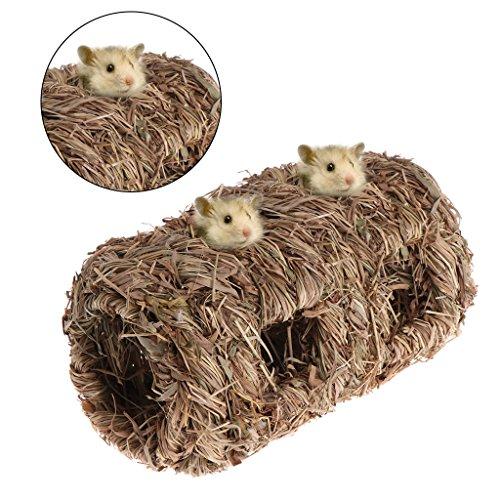 Hergon Hamsternest geflochtenes Gras, Kleintierspielzeug Käfig, für Chinchilla, Meerschweinchen