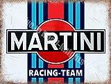 Martini Racing Equipo Automovilismo Motor Metal Clásico/Cartel De Acero Para Pared - 30 x 40 cm