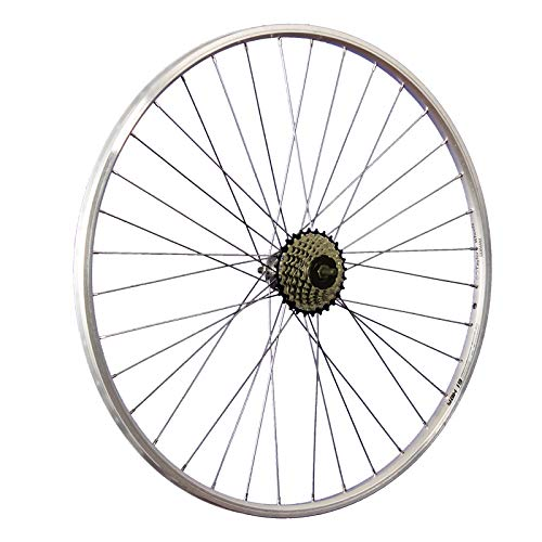 Taylor-Wheels 28 Zoll Hinterrad YAK19 / 7 Fach Shimano Schraubkranz - Silber -