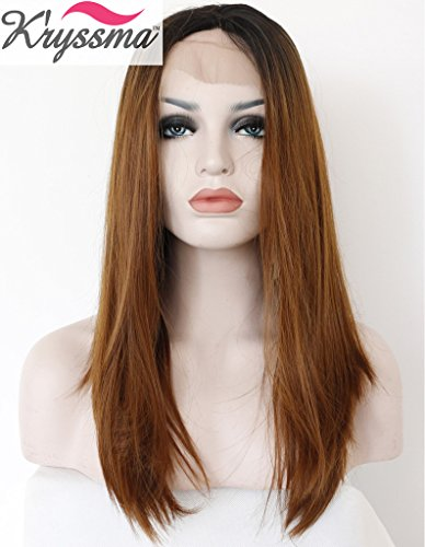 kryssma-natural-looking-ombre-dark-roots-brown-lace-front-wigs-synthetic-hair-for-women-half-hand-ti