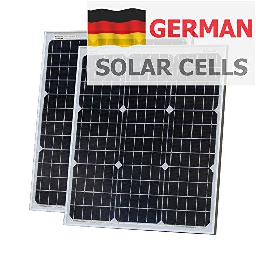 100W (50W + 50W) Photonic Universe Solar aus deutscher Solar Zellen mit 2x 5m Kabel für Wohnmobil, Wohnwagen, Boot oder jedem 12V/24V Akku System Rv Trailer-batterien
