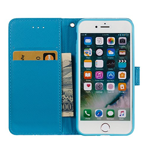 Custodia iPhone 7, Cover iPhone 7 Brillantini, SainCat Custodia in Pelle Cover per iPhone 7, 3D Strass Diamante Bling Glitter Anti-Scratch Book Style PU Leather Case Flip Portafoglio Custodia Libro Pr Datura