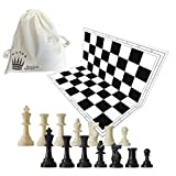 SchachQueen - Schachset - komplettes Schachspiel mit Schachbrett und Schachfiguren Plastik Feldgröße 57 mm Königshöhe 97 mm