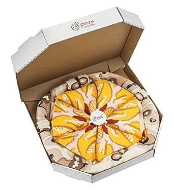 PIZZA SOCKS BOX - Pizza Hawaïenne - 4 paires de Chaussettes FANTAISIE Uniques et Originales - CADEAU Drôle en COTON!|Tailles UE: 36-40|fabriqué dans l'UE