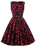 Women's Rockabilly Hepburn Style Full Skirt Dresses Party Wedding Dress(29,2XL)