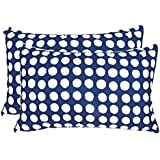 "Ahmedabad Luxurious 2 Piece Cotton Pillow Cover Set - 18""x27"", Blue"