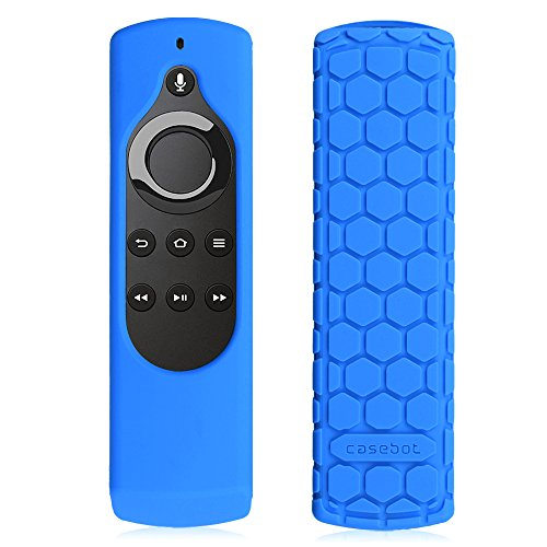 CASEBOT Hülle für Fire TV Stick mit Alexa-Sprachfernbedienung (1. Generation), Amazon Echo/Echo Dot Alexa Voice Remote - Leichte Rutschfeste Stoßfeste Silikon Schutzhülle, Blau