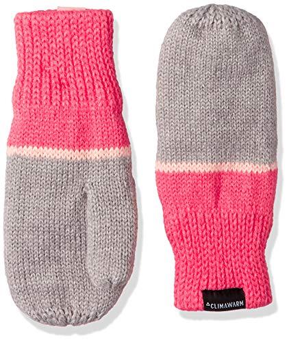 adidas Kinder Stripy-DJ2277 Handschuh, Medium Grey Heather/Super Pink/White, XS -