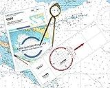 FLASH-TIDE - Pack Permis Hauturier Plus (Carte + règle-rapporteur + compas lyre)