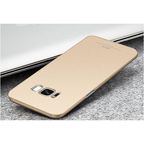 Coque Samsung Galaxy S8 (5,8 pouces), MSVII® PC Plastique Coque Etui Housse Case et Protecteur écran Pour Samsung Galaxy S8 (5,8 pouces) - Gris JY30064 Or