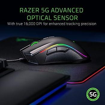 Razer Mamba Elite Mouse da Gioco Ergonomico, 5G Vero 16000, Sensore Ottico DPI, Razer Chroma Abilitato