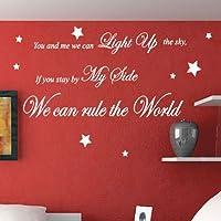 Che Regola il mondo canzone Citazione a parete adesivi decalcomanie da parete parole, metalic gold, large