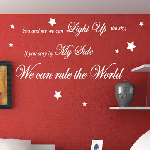 Take That Rule The World Song Lyrics Wall Quote Stickers Wall Decals Words:  Amazon.co.uk: Kitchen U0026 Home Part 80