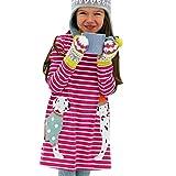 JERFER Baby Kleinkind-Mädchen Langarm Herbst Karikatur Prinzessin T-Shirt Kleid 2-6T (C, 4T)