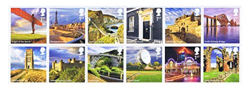 uk-sehenswrdigkeiten-von-a-nach-l-briefmarken-12x-royal-mail-1st-class-mint-briefmarken-2011landscha