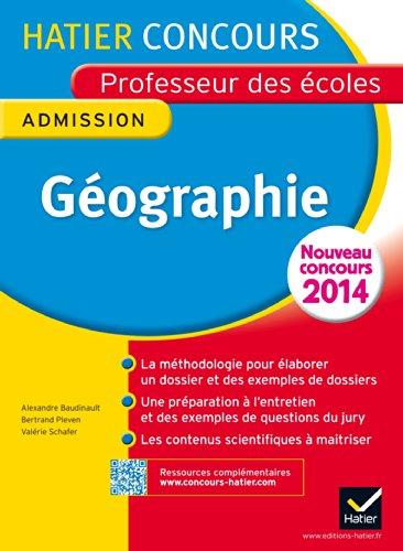 Concours professeur des écoles 2015 - Géographie - Epreuve orale d'admission par Alexandra Baudinault