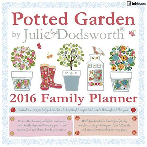 Potted Garden 2016 - Family Planner/Julie Dodsworth Planner - 30 x 30 cm