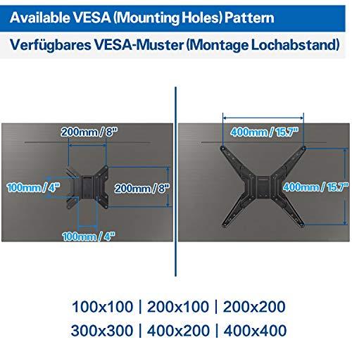 Mounting Dream TV Wandhalterung Schwenkbar Neigbar Ausziehbar, Fernseher Halterung für die meisten 66cm-140cm (26-55 Zoll) LED, LCD, OLED TVs mit VESA 100x100-400x400mm bis zu 27kg, MD2431-MX-03