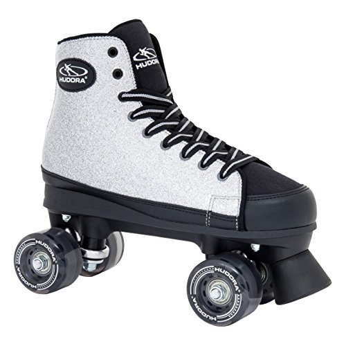 HUDORA Rollschuhe Roller-Skates Silver Glamour - Disco-Roller, Gr. 36, 13060