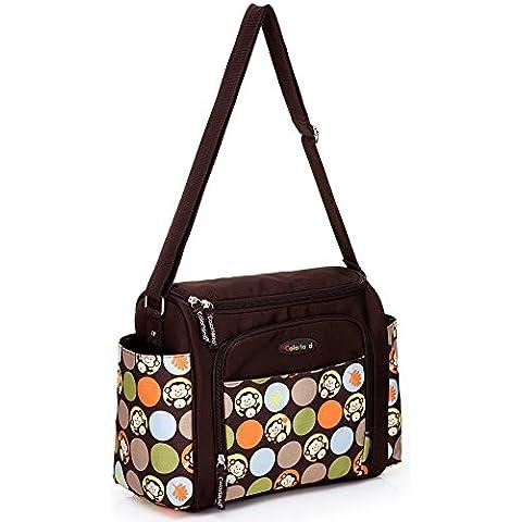 mengma 5colores impresión de flores de gran capacidad impermeable bolsa de pañales bolsa de maternidad enfermería bebé madre aislante bolsa de hombro