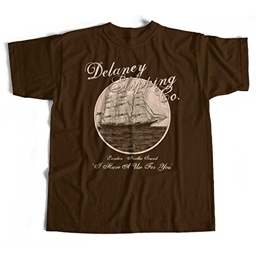 Old Skool Hooligans Inspired by Taboo T Shirt - Delaney Trading Company TV Original-brown-m - Delaney Schnitt