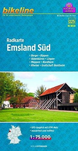 Emsland South Cycle Map 2014 por Bikeline