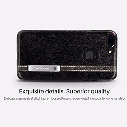iPhone Case Cover NILLKIN Phenom Housse pour iPhone 7 Plus Business Style en Cuir Surface PC Housse de Protection pour Etui avec Cadre Soft TPU et Porte Magnetic Meatl ( Color : Brown ) Red
