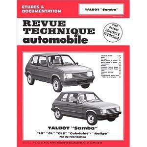 Revue Technique Automobile, N° 4224 : Talbot Samba