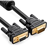 UGREEN VGA Câble d'Extension Mâle vers Femelle Câble VGA Rallonge 15 Broches Plaqué Or avec Noyau de Ferrite Supporte 1080P pour Prolonger les Dispositifs VGA (2m)