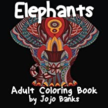 Adult Coloring Book: Volume 1 (Elephants)