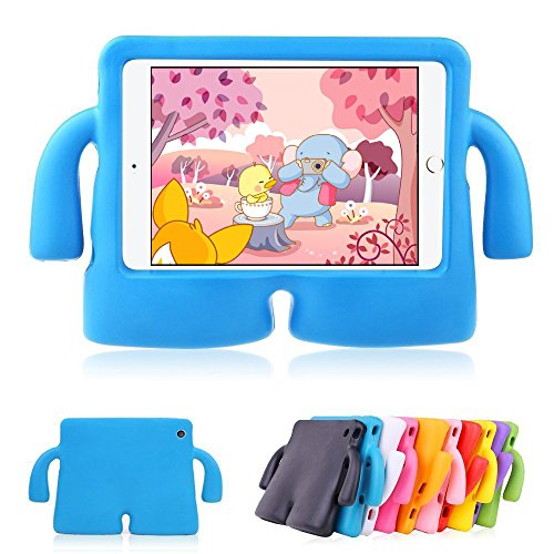 Muze - iPad Mini 1 caso, iPad Mini 2 Caso, iPad Mini 3 caso, a prueba de golpes caso mango cubierta, Durable + soporte funda infantil y asa de transporte para Apple iPad Mini 1/2/3