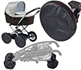 4x-Protezione universale per passeggino, carrozzina con ruote, anteriore e posteriore