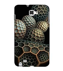 Fuson Designer Back Case Cover for Samsung Galaxy Note 2 :: Samsung Galaxy Note Ii N7100 (Designer Ball theme)