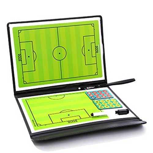 Crewell Soccer Fußball Taktiktafel Trainieren assisitant Equipments 2,5Fold Leder Teaching Board