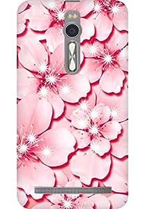 AMEZ designer printed 3d premium high quality back case cover for Asus Zenfone 2 (pink flower)