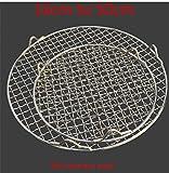 NIAN Rete Tonda griglia in Acciaio Inox 304 con griglia per Barbecue a Maglie per Barbecue Scaffale di Raffreddamento griglia per Cottura a Vapore Campeggio Rete Metallica Esterna a Rete, 40,5 cm