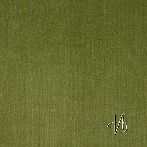 MIRABLAU DESIGN Stoffverkauf Bio Baumwolle Stretch Kord fein GOTS grün (7-020M), 0,5m (Grüne Stretch-cord)