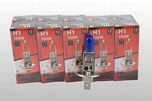 bleu-10-x-h1-100-w-12-v-ampoules-halogenes-avec-effet-xenon-culot-p145s-ampoules-lampes-voiture-pour