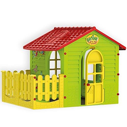 Mochtoys 5907442108392 Spielhaus für drinnen und draußen mit Zaun, Gartenhaus Kind, Spielg Preisvergleich