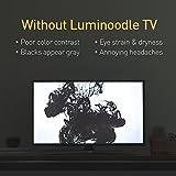 Luminoodle Bias-Beleuchtung für HDTV - Hellweiße USB-betriebene LED-Heimkinobeleuchtung für Fernseher, Monitore - USB-TV-LED-Hintergrundbeleuchtung (3 Meter)