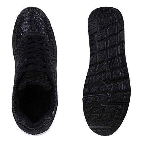 Damen Herren Unisex Laufschuhe Profil Sohle Sportschuhe Fitness Schuhe Schwarz Arriate