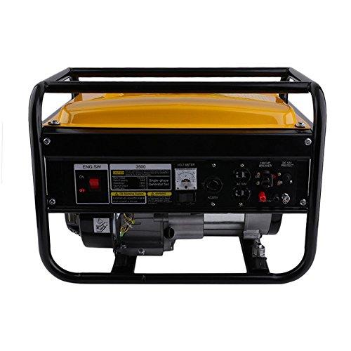 SunnydayDE Heavy Duty 4000W 6.5HP 110/220 V Auto Dual Voltage Benzin Gas Generator Motor (Motor Voltage Dual)