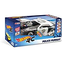 Price comparsion for mondo R/C Hot Wheels Police Pursuit cm.30–Full Function–Light and Sound Effects–Hard Body–Speed 15km/h–Works with: 6AA Batteries Included