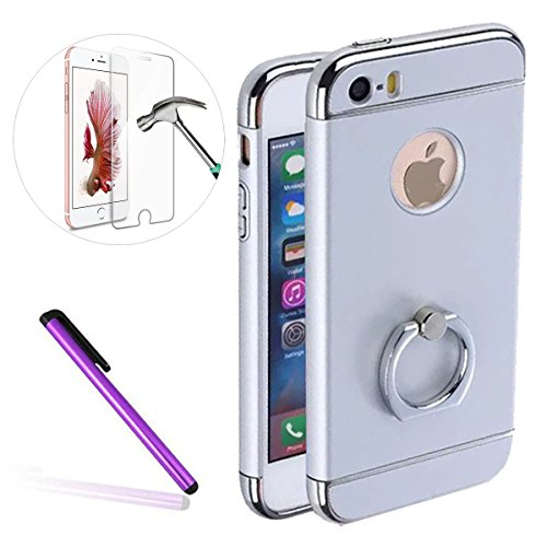 iPhone 6S Hülle,iPhone 6 Hülle,iPhone 6S Etui,EMAXELERS Transparent Hardcase for iPhone 6S Case,Hart Plastik Schutzhülle Hard Kunstoff Clear Cover Silber Schiefen Turm Schnee Sparkles Diamant Painted  Roll Plating PC 5