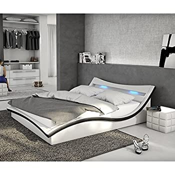 designerbett bett seducce 140 x 200 cm schwarz wei modernes design wasserbett geeignet inkl. Black Bedroom Furniture Sets. Home Design Ideas