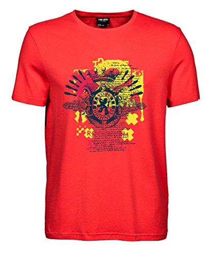 makato Herren T-Shirt Luxury Tee Rotterdam Highness Coral