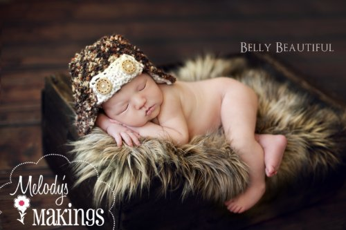 Baby Bush Pilot Hat Knitting Pattern - All Sizes From Newborn to Adult Man Included (English Edition) -