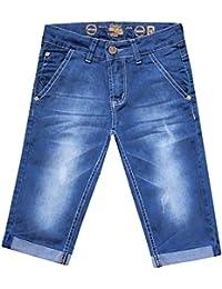 Niño Pantalones cortos, Verano, vaqueros Azul, Algodón